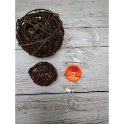 Spirála s oranžovou koulí