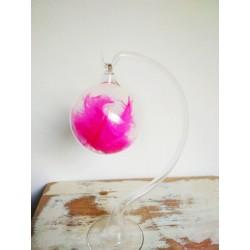Vánoční skleněná koule -...
