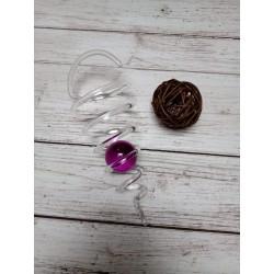 Spirála - skleněná fialová...